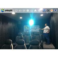 Quality 9 Persons 7D Movie Theater With Special Effect System , Thrilling Drastic Movement Of Chair wholesale
