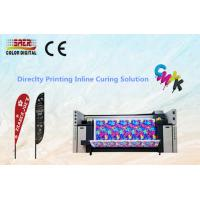 China CMYK Digital Fabric Plotter / Table Cover Textile Printing System With High Resolution on sale