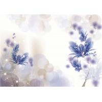Quality Artistic Flowers Bamboo Fiber Wall Panels Violet Density 1.23 g / m² Water Proof wholesale