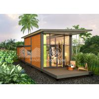 China Wood Appearance Modern Style Prefab Houses With Loft Easy Assembly Temite Proof on sale