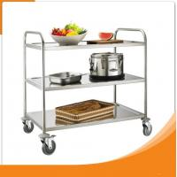 Quality Single Line Kitchen Food Tray Trolley Cart  Stainless Steel for Restaurant wholesale