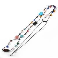 Quality Attractive Adjustable Rope Necklace , Handmade Beaded Jewelry For Party wholesale