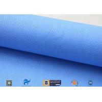 Quality 0.5mm 15oz Blue Silicone Coated Fiberglass Fabric For Auto Part Insulation wholesale