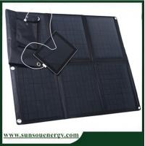 China 60w mono solar panel charger / 60w solar panel laptop charger / 60w portable solar panel charger kits price on sale