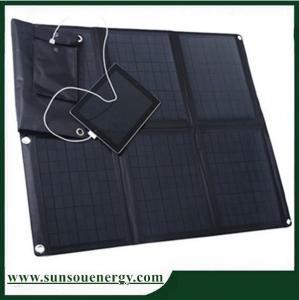 Quality Portable solar panel kits 60w, solar panel phone charger kits / 60w solar panel laptop charger for 12v battery etc wholesale