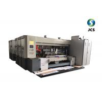 China PLC Control Board Corrugated Box Printing Machine With Electric Slotting Machine on sale