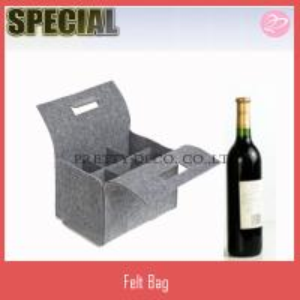 Quality 6 bottle wine bag ,Felt Wine Box, wine glass box,wine packaging box wholesale