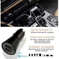 Quality Dual Usb Car Charger 5V 2.4A Style Quick Charger 3.0 For Mobile Products wholesale