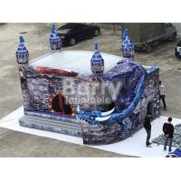 China 0.55mm PVC Commercial Funny Kids Castle Inflatable Bounce House Slide Combo on sale