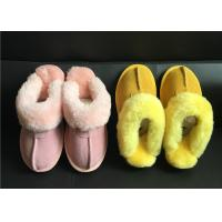 Quality Tan Suede Sheepskin Slippers Winter Women Chestnut Classic Sheepskin Slippers wholesale