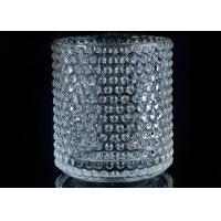 Home Deco Custom Nail Glass Candle Holder / Glass Cylinder Candle Holders