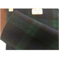 Quality Double Sided Green Tartan Fabric60% Wool , Scottish Plaid FabricWith Horizontal And Vertical Line wholesale