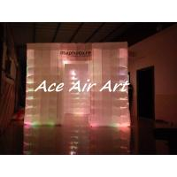 Quality rental large 3x3m portable cube inflatable photo booth tent with colorful led lights for wedding wholesale
