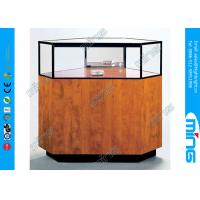 Quality Corner Jewelry Display Case with Locking Hinged Door for Shopping Mall wholesale