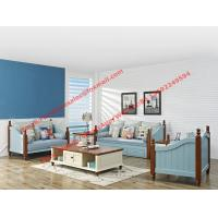 Cheap Solid woood with Fabric sofa set in Mediterranean Leisure design Furniture from High quality Shenzhen China for sale