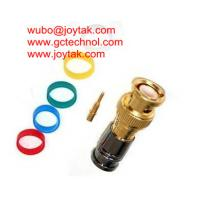 Cheap BNC Coaxial Connector BNC male Compression connector gold plated 50ohm for RG6 Coax Cable premium quality for sale