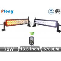 Quality 13.5 72W Cree Amber Flashing Led Light Bar With Remote Control for Offroad wholesale