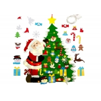 China Diy Hanging 3mm Felt Christmas Tree Decorations With Led String Lights on sale
