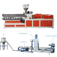 Cheap High Capacity Plastic Dual Screw Extruder With Water Ring Pelletizing System for sale