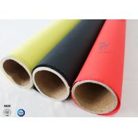 Quality Alkali Free Silicone Coated Fiberglass Fabric C-glass Red Color 40/40g 0.45mm wholesale