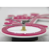 Cheap Girls DIY Pink Sticker Wall Clocks Silent for Souvenir Gift , Bicycle Shaped for sale