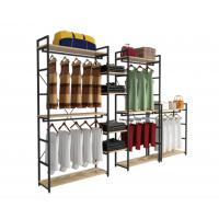 China Modern Style Clothing Shop Display Racks Wall Mounted Clothing Rack For Shopping Mall on sale