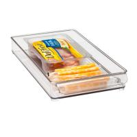 Quality Rectangle Clear Acrylic Tray , 300 * 100 * 40mm OEM Logo wholesale