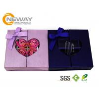 Quality Flower Gift Box Full Color Elegant Square Rigid Cardboard Flower Paper Box with Clear Window wholesale