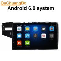 Quality Ouchuangbo car gps navi stereo android 6.0 for Honda Fit  2014 with  microphone bluetooth music 4*45 Watts amplifier. wholesale