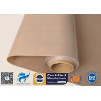 Quality Brown Food Grade PTFE Coated Fiberglass Fabric 0.16mm 6mil wholesale