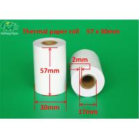 China Tight Rolling 57mm Thermal Paper Rolls , Adding Machine Paper Rolls Grade A Level on sale