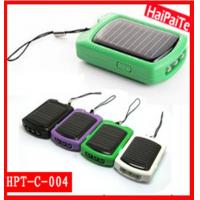 Quality cute solar cell phone charger with 3 leds flashlight wholesale