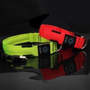 Quality C906 Wholesale Fashion Colorful Customized Logo Flashing Rechargeable LED Dog Collar For Safety Night Walk wholesale