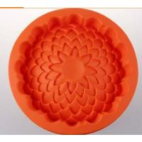 Cheap round shape silicone cake pans ,silicone baking  pans , flower shape silicone pizza  pan for sale