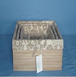Quality Manufactory wood  Fabric Storage Box, Storage Organizer wholesale