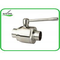Quality High Sealing Sanitary Butt Weld Ball Valves With Bright Annealing Surface Treatment wholesale