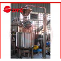 Quality 300L Electricity Moonshine Whisky Pot Still , Small Copper Distiller CE wholesale