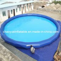 Quality Outdoor Small Blue Inflatable Water Kids Pool for Swimming and Walk Roller wholesale