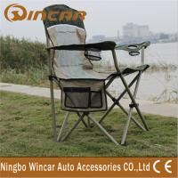 Quality Portable Folding Outdoor Camping Chairs With Cup Holder for family wholesale