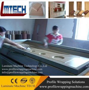 China HDF Moulded Melamine Door Skin vacuum membrane press machine on sale