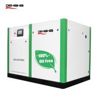 China stock available 100% Oil Free Screw Air Compressor single screw oil free air compressor on sale