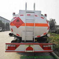 Quality 3000L - 6000L Crude Oil Tanker Truck , Mobile Fuel Oil Delivery Truck wholesale