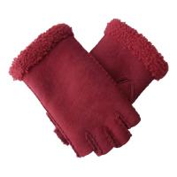 Quality Double Face Leather Fashion Gloves , Touch Screen Cute Women'S Mitten Gloves wholesale