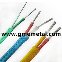 China Heat resistant Teflon insulated Thermocouple Compensating Cable PVC Material on sale