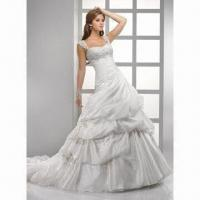 Quality 2012 Spaghetti Strap Organza Bridal Gown wholesale
