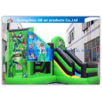 Quality Green Ben 10 Theme Bouncy Castle Slide, Inflatable Jumping Castle For Kids wholesale