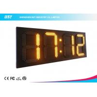 China Simple 22 Yellow Led Clock  Display / 24 Hour Digital Wall Clock on sale