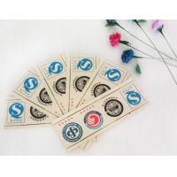 China Printed Logo Waterproof Adhesive Sticker Labels Coated Paper With Roll / Sheet Shape on sale