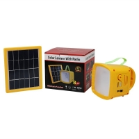 China Complete home appliances portable solar energy lantern radio off grid mini camping lamp rechargeable phone charger on sale