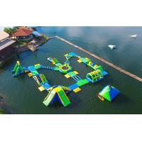 Quality 0.9mm PVC Tarpaulin Adults  Inflatable Floating Water Park Games With TUV Certification wholesale